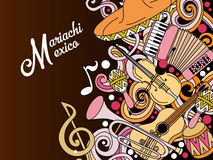 Mariachi Mexico colorful festive background. Stock Images