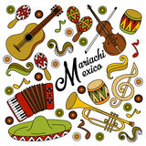 Mariachi Mexico colorful festive background. Stock Photography