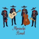 Mariachi muzycy z instrumentu muzycznego wektoru ilustracją royalty ilustracja