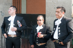 Mariachi op Plein Garibaldi in Mexico-City stock afbeelding