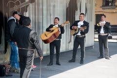 Mariachi op Plein Garibaldi in Mexico-City stock fotografie