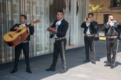 Mariachi op Plein Garibaldi in Mexico-City royalty-vrije stock foto's