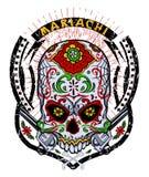 Mariachi skull Stock Images