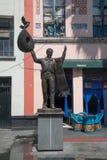 Mariachi statue Plaza Garibaldi in Mexico City. Mexico City, circa february 2017: Mariachi statue Plaza Garibaldi in Mexico City Stock Images