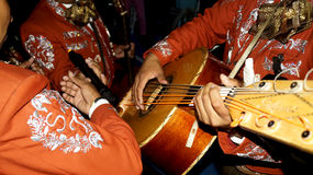 A mariachi trio playing Royalty Free Stock Images