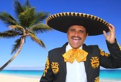 Mariachi van Charro het zingen schreeuw in het strand van Mexico Royalty-vrije Stock Foto's
