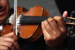 Mariachi Violin. A mariachi band member playing the violin Royalty Free Stock Photography