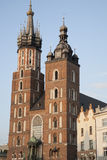 Mariacka Basilica Church; Krakow Stock Photography