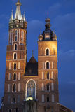 Mariacka Basilica Church, Krakow Royalty Free Stock Image