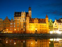 Mariacka gate in Gdansk by night Stock Image