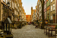 The famous street of Gdansk Royalty Free Stock Photography