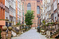 Mariacka Street in Gdansk Stock Photos