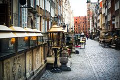 Mariacka street in Gdansk Royalty Free Stock Image