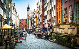 Mariacka street in Gdansk. Architecture of Mariacka street in Gdansk is one of the most notable tourist attractions in Gdansk Stock Photography