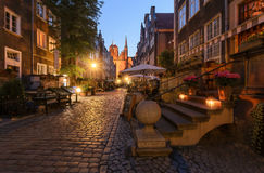 Mariacka street in Gdansk in the evening. Poland, Royalty Free Stock Images