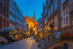 Mariacka street in Gdansk Old Town, Poland Royalty Free Stock Image