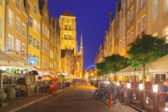 Mariacka street in Gdansk Old Town, Poland Stock Image