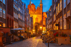 Mariacka street in Gdansk Old Town, Poland Royalty Free Stock Photo