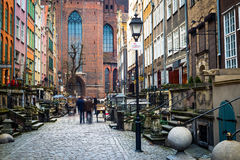 Mariacka street in Gdansk Stock Images