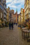 Mariacka Street in Gdansk Royalty Free Stock Images