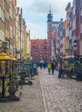 Mariacka Street in Gdansk. Renaissance and medieval Mariacka Street in the Old Town in Gdansk, northern Poland. Famous for amber jewellery shopping Stock Image