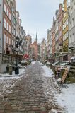 Mariacka street at winter time in old town of Gdansk. Mariacka street at winter time in old town of Gdansk in Poland Royalty Free Stock Photos