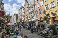 Mariacka Uliczny złocisty zakupy Gdański Obraz Royalty Free