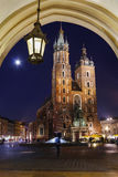 Mariacki church adjacent to the Main Market Square. Krakow, Pola Royalty Free Stock Photo