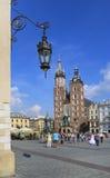 Mariacki church, church adjacent to the Main Market Square. Krak Stock Images