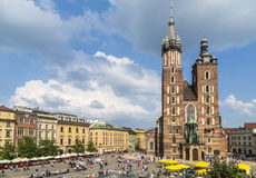Mariacki church, Church of Our Lady in Krakow Stock Image