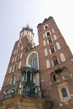 Mariacki church in Cracov Royalty Free Stock Photography