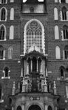 Mariacki Church in Cracow facade Royalty Free Stock Images