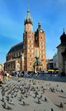 Mariacki church cracow Stock Photography