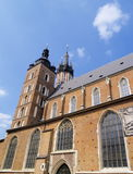 Mariacki Church in Cracow, Poland. Old Town in Cracow, famous polish landmark Stock Photography