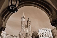 Mariacki church cracow. Mariacki church in Cracow Poland Stock Photography