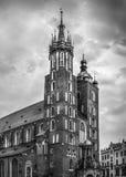 Mariacki church in Cracow, Poland Stock Image