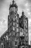 Mariacki church in Cracow, Poland Stock Images