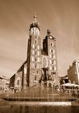 Mariacki church Cracow. View of Mariacki church Cracow Poland Royalty Free Stock Photography