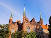 Mariacki Church in Gdansk, Poland. Mariacki Church on the old town of Gdansk - beautiful polish city Stock Image