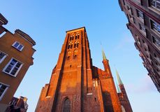 Mariacki Church in Gdansk, Poland Royalty Free Stock Image