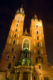 Mariacki church in Krakow Stock Photos