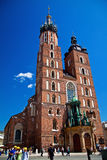 Mariacki Church In Krakow Stock Photo