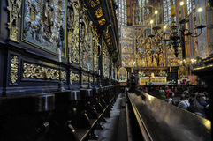 Mariacki church in Krakow Royalty Free Stock Photo