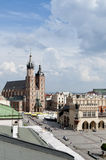Mariacki Church in Krakow, Poland Stock Photos