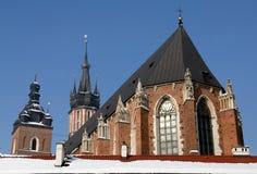 Mariacki Kirche in Krakau Lizenzfreie Stockfotos