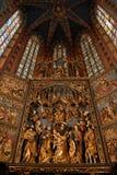 Mariacki Kirche in Krakau Stockfoto