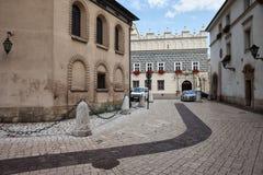 Mariacki Square in Old Town of Krakow Stock Photo