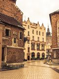 Mariacki Square in Krakow. Mariacki Square, with view to Town Hall and Adam Mickiewicz monument, Krakow, Poland Stock Images