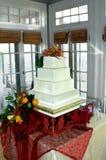 Mariage à la maison d'automne Images libres de droits