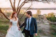 Mariage élégant sur une nature Images libres de droits